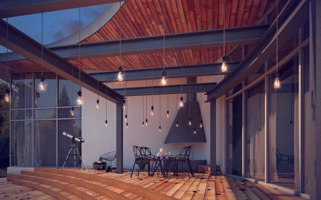 дизайн на веранда на къща