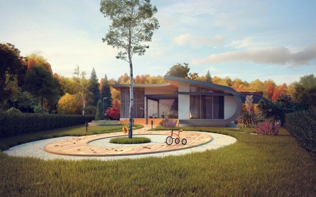 Проект на едноетажна къща
