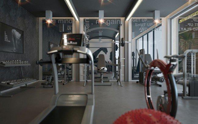 интериорен дизайн на фитнес
