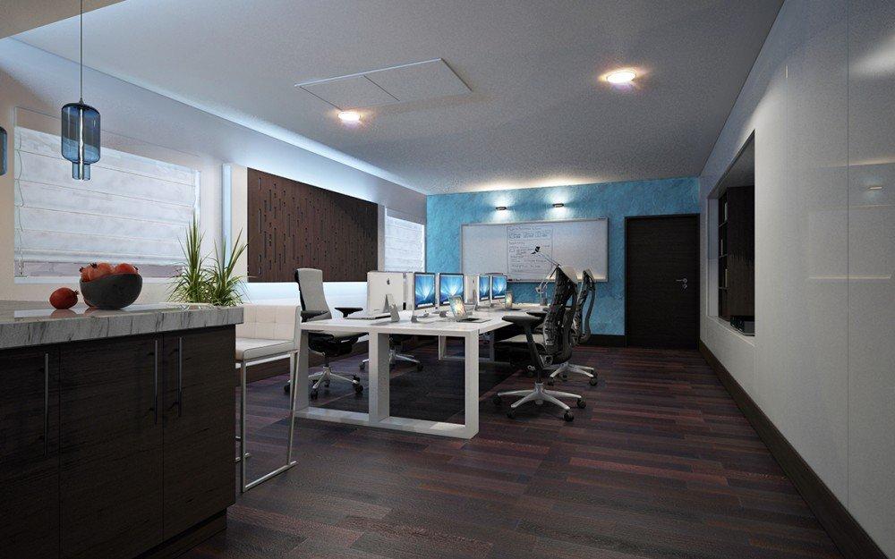 интериорен дизайн на домашен офис архитекти Чолаков Гонгалов
