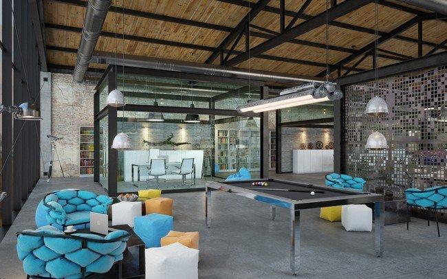 модерен дизайн на open space офис