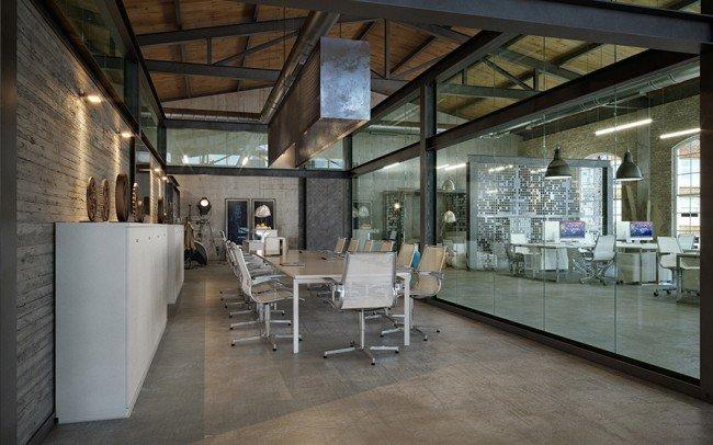 вътрешен дизайн на зала за срещи в офис