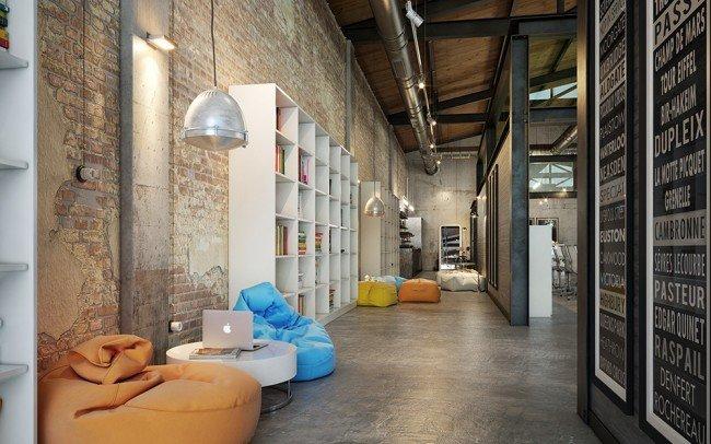 коридор в IT офис с релакс зони