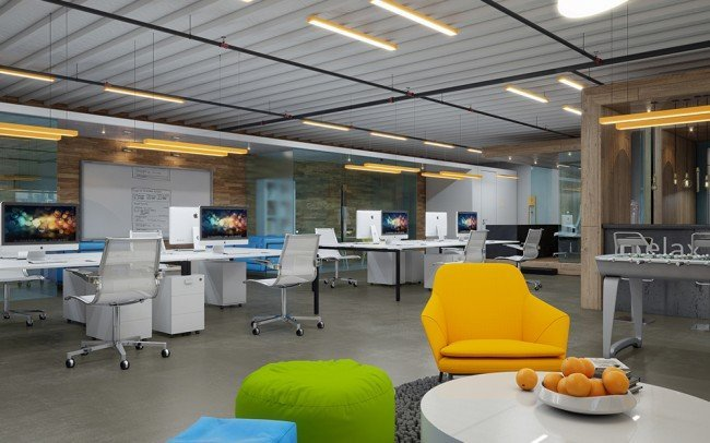 дизайн на интериор в офис и зона за релакс
