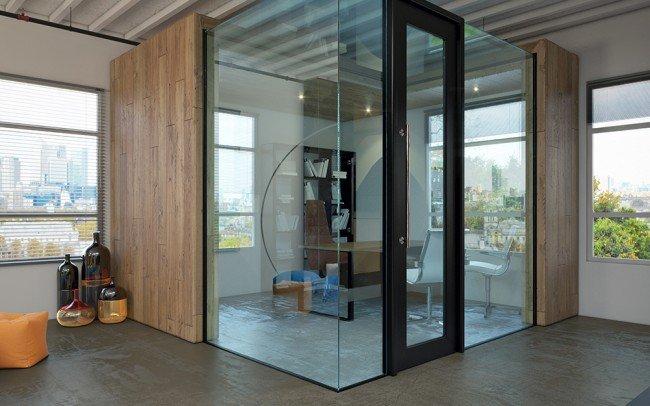 проект на кабинет с прозрачни паравани