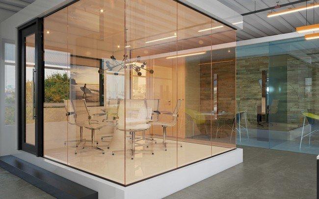 дизайн на интериор на офис в модерен стил