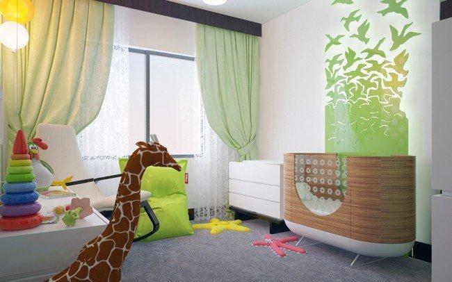 идеи за дизайн и интериор на бебешка стая