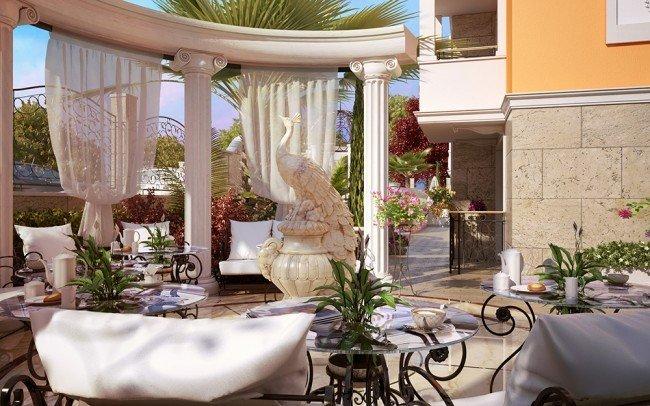 дизайн на градина в хотел