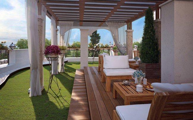дизайн на градина и заведение в хотел