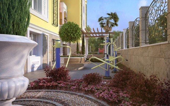 дизайн на градини на апартхотел
