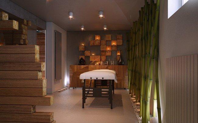 дизайн на зала за масажи в частно СПА