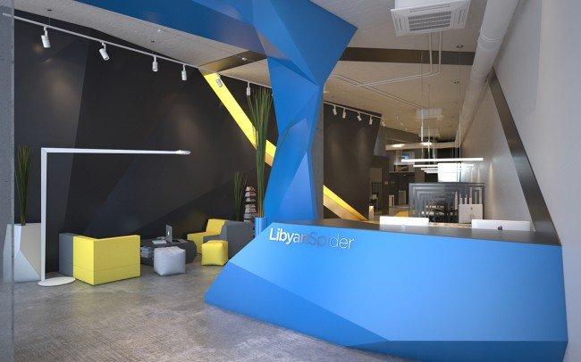 дизайн на офис и рецепция на компания Libyan Spider