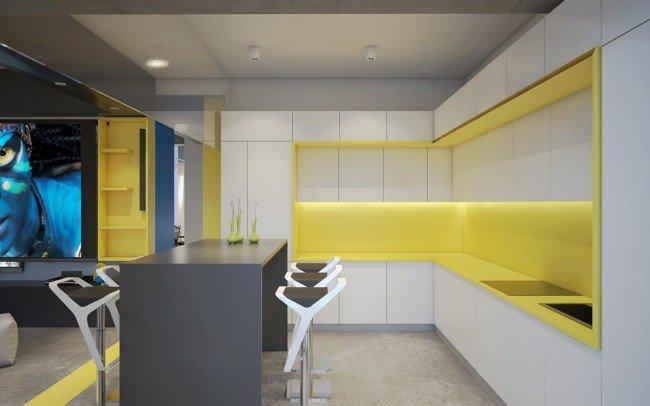 Дизайн на кухня в офис в модерен стил