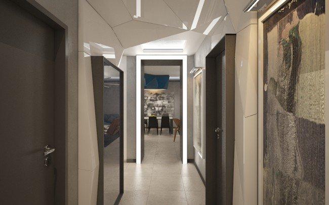 интериорен дизайн на апартамент и антре