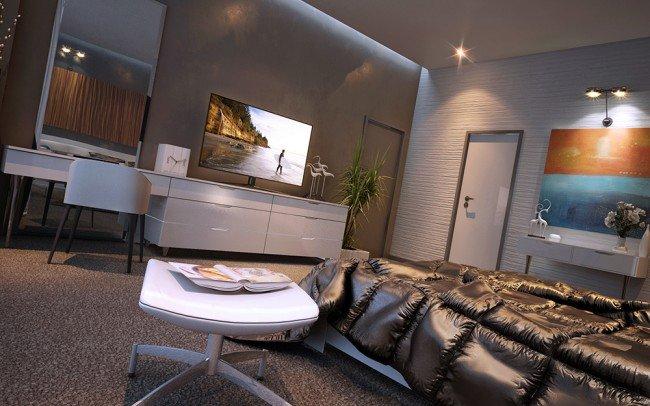 интериорн дизайн на спалня за гости