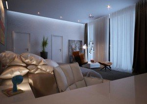 интериор на спалня за гости