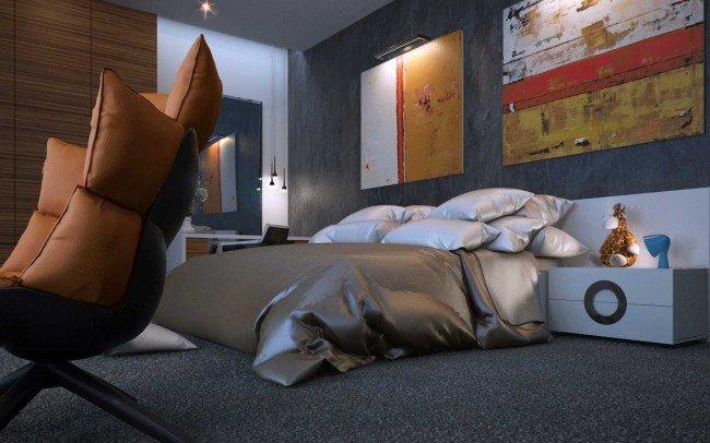 вътрешен дизайн на спалня за гости