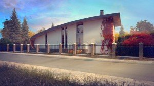 фасада на едноетажна къща архитекти Чолаков Гонгалов