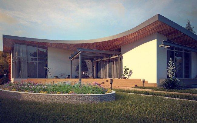 дизайн на къща и веранда