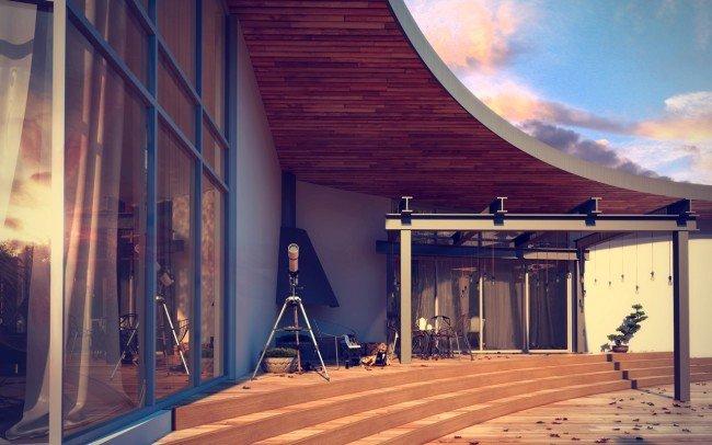 дизайн на модерна къща на един етаж