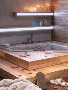 дизайн на баня с джакузи