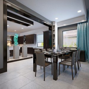 дизайн на трапезария и кухня в едно