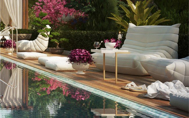дизайн на басейн и градина