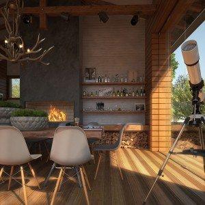 проектиране на барбекю в градината