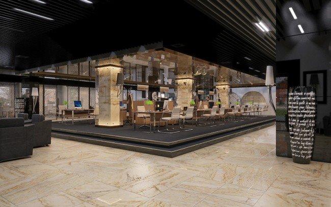 зала за обслужване на клиенти в банка архитекти Чолаков Гонгалов
