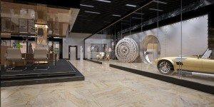 интериорен дизайн на банков офис