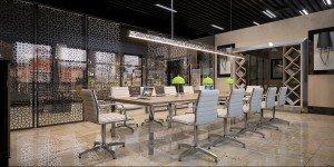 дизайн на зала за срещи в банка