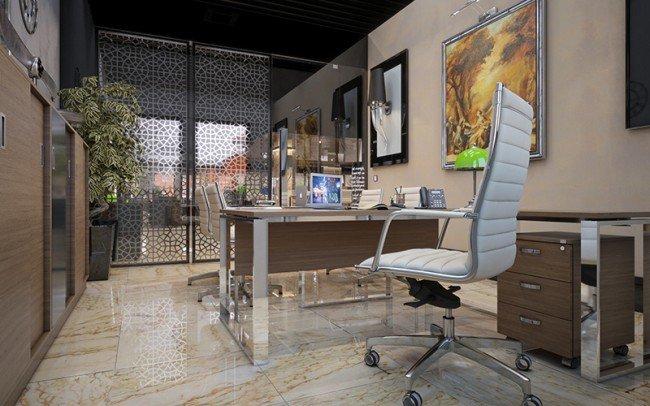 дизайн на кабинет в банка