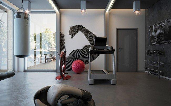 уреди и вътрешен дизайн на фитнес