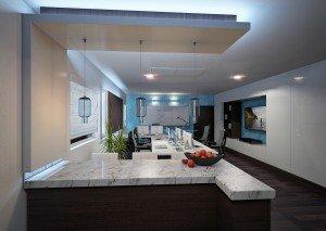 дизайн на кухня в домашен офис