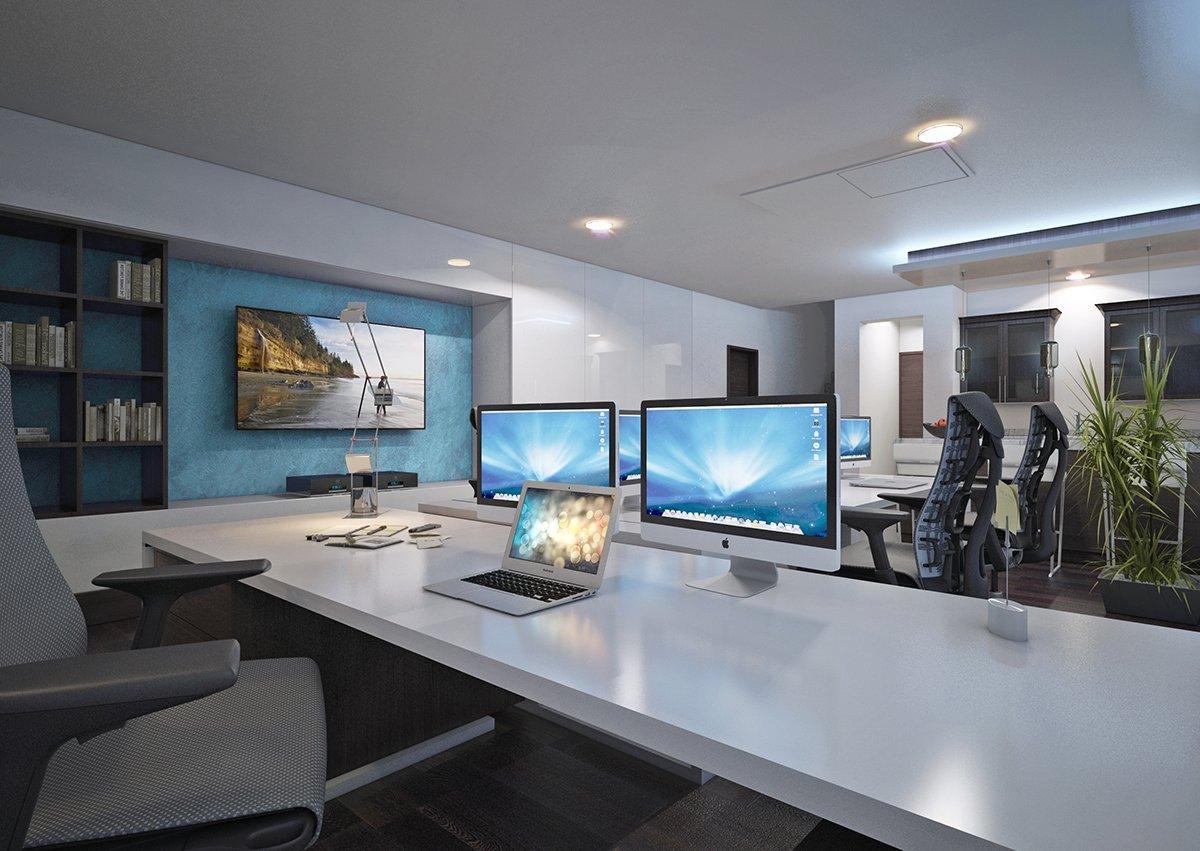 Interior Design Of A Home Office In Las Vegas