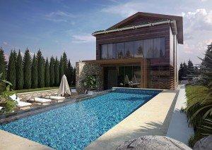 проект на хотел с басейн