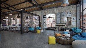 проект на open офис с бюра и зона за релакс