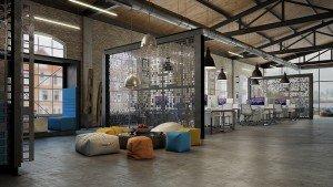 зона за релакс и срещи в open space офис