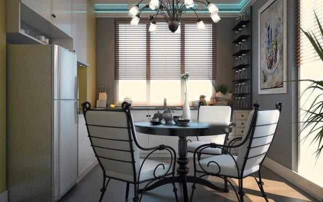 проект на кухня в бяло