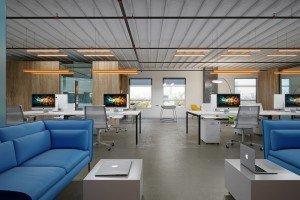 интериорен дизайн на open space офис