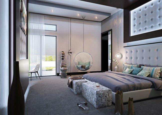 дизайн на интериор в спалня с детска стая