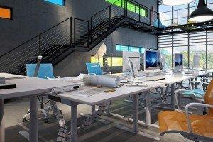 интериорен дизайн на малък офис