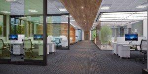 вътрешен дизайн на open spce офис