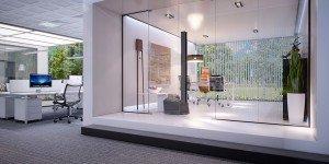 интериорен дизайн на кабинет в бяло