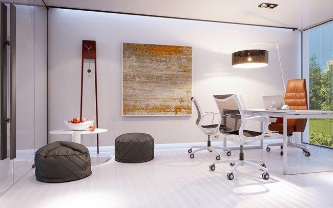 изчистен дизайн на кабинет
