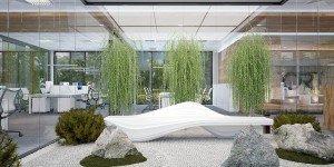 дизайн на градини в офис