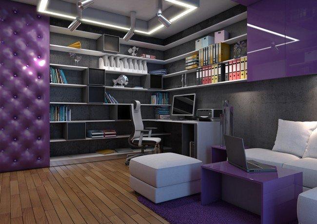 бюро и кът за работа в домашен офис