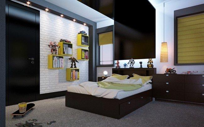 дизайн на спална в стая за момче тийнеджър