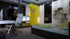 интериорен дизайн на стая за тийнеджър Чолаков Гонгалов архитекти