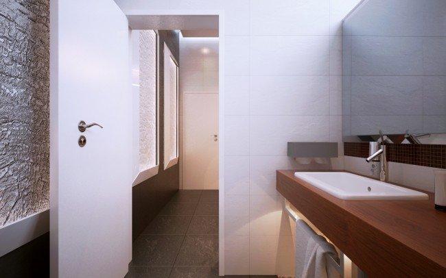 интериор на баня към спалня